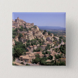 De EU, Frankrijk, de Provence, Luberon, Gordes Vierkante Button 5,1 Cm