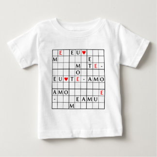 de EU te amo Baby T Shirts