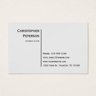 De euro Minimalistische Elegante Advocaat van de Visitekaartjes