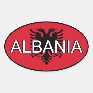 De Euro Sticker van Albanië