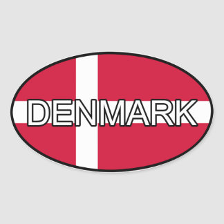 De Euro Sticker van Denemarken