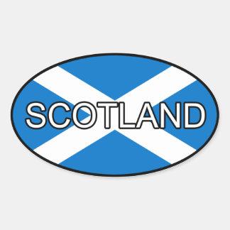 De Euro Sticker van Schotland