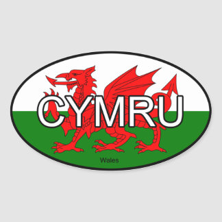 De Euro Sticker van Wales CYMRU