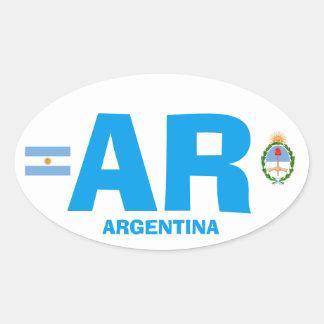 De Euro Stijl Ovale Wisker van Argentinië Ovale Sticker