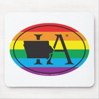 De Euro van de Trots van de Staat LGBT: IA Iowa Muismat