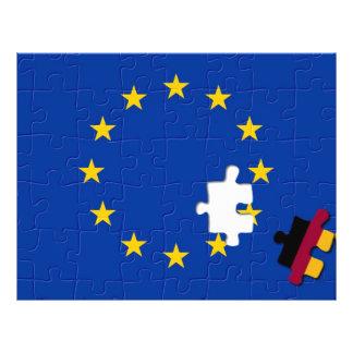 De Europese Unie van Duitsland en Flyer 21,6 X 27,9 Cm
