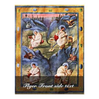 De Evangelies van Aken, Folio 13R door Flyer 21,6 X 27,9 Cm