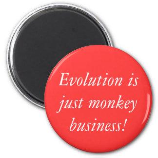 De evolutie is enkel aapzaken! magneet