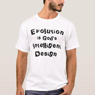 De evolutie is het Intelligente Ontwerp van de God T Shirt