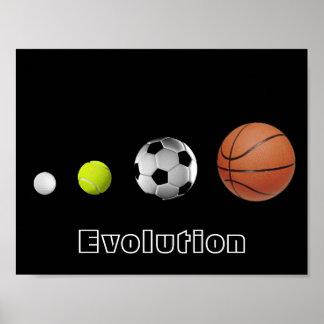 De Evolutie van de bal Poster