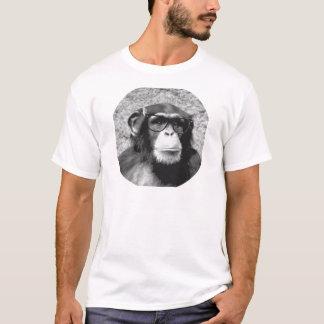 De Evolutie van de Glazen van de aap nerd T Shirt
