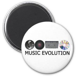 De evolutie van de muziek magneet