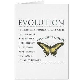 De Evolutie van het Citaat van Darwin Kaart