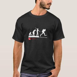 De evolutiet-shirt van het vrij duiken t shirt