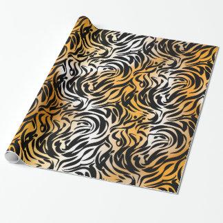 De exotische Tijger en het Zebra van de Druk van Inpakpapier