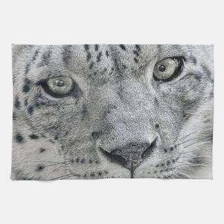 De exotische Witte Luipaard van de Sneeuw Theedoek