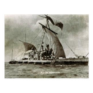 De Expeditie van Kontiki, Thor Heyerdahl, 1947 Briefkaart