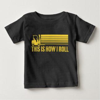 De Exploitant van de vorkheftruck zo rol ik Baby T Shirts