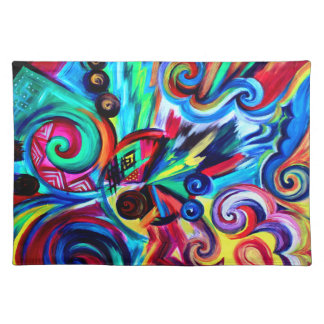 De Explosie van de kleur Placemat