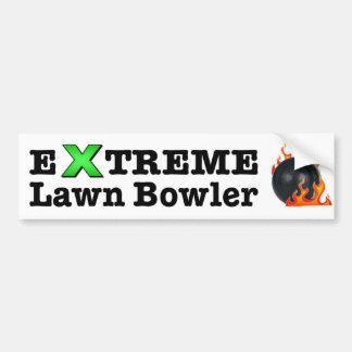 De extreme Bowlingspeler van het Gazon Bumpersticker