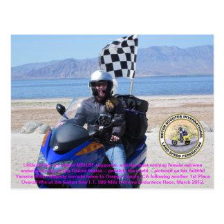 De Extreme Rennende Kampioen Linda Hur van de Briefkaart