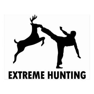De extreme Schop van de Karate van de Herten van Briefkaart