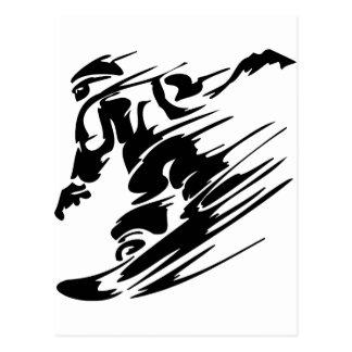 De Extreme Sporten van Snowboarding Briefkaart