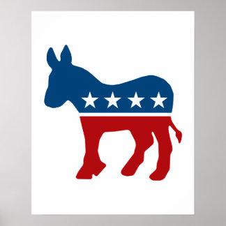 De Ezel van de democraat Poster