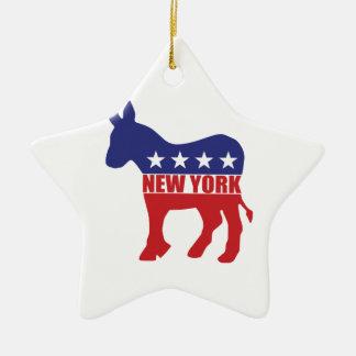 De Ezel van de Democraat van New York Keramisch Ster Ornament