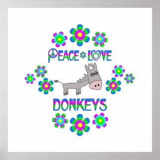 De Ezels van de Liefde van de vrede Poster