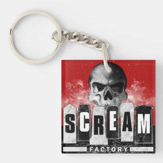 De Fabriek Keychain van de schreeuw Sleutelhanger