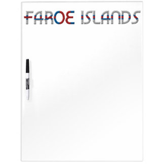 De Faeröer markeren de Typografie van Kleuren Whiteboards
