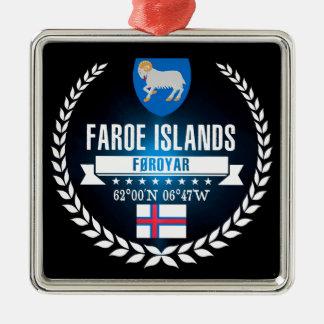 De Faeröer Zilverkleurig Vierkant Ornament