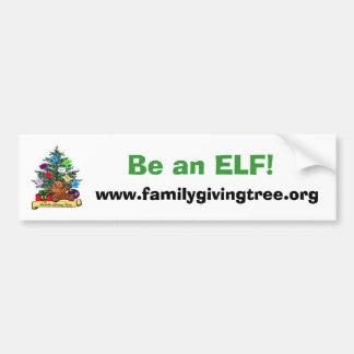 De familie die Boom geven, is een ELF! , www.famil Bumpersticker