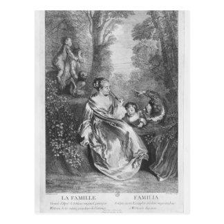 De familie, door Pierre die Aveline wordt Briefkaart