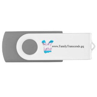 De familie overtreft de Aandrijving van de Flits Swivel USB 2.0 Stick