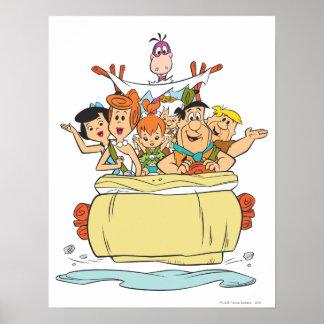 De Familie Roadtrip van Flintstones Poster