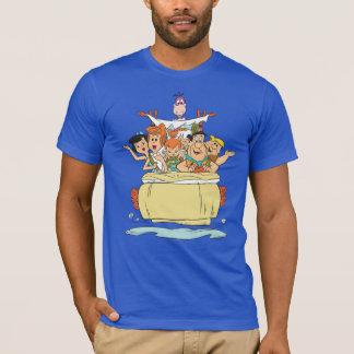 De Familie Roadtrip van Flintstones T Shirt