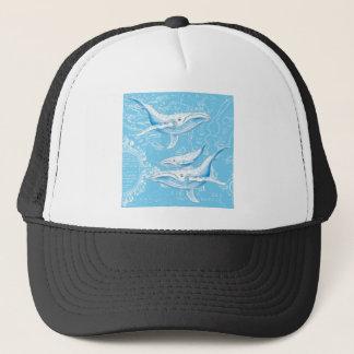 De Familie van Blauwe vinvissen Trucker Pet