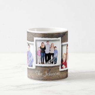 De Familie van de Collage van de Foto van de Koffiemok