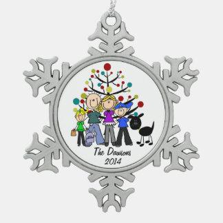 De Familie van de douane met het Zwarte Ornament