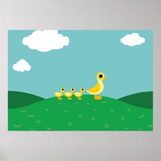 De familie van de Eend Poster