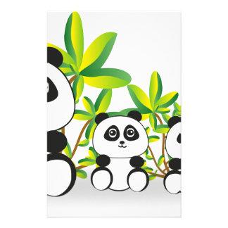 De Familie van de panda Briefpapier