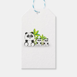 De Familie van de panda Cadeaulabel