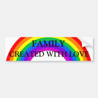 De Familie van de regenboog met de Sticker die van Bumpersticker