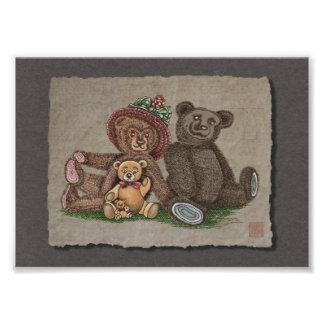 De Familie van de teddybeer Foto