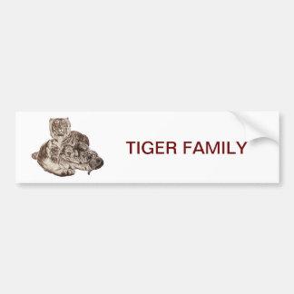 De Familie van de tijger Bumpersticker