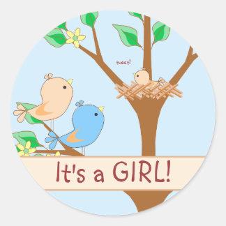 De Familie van de vogel het is een Sticker van het