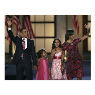 De familiegolf van Obama van Barak bij de laatste Briefkaart