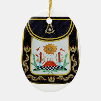 De fancy Afgelopen Schort van Meesters Keramisch Ovaal Ornament